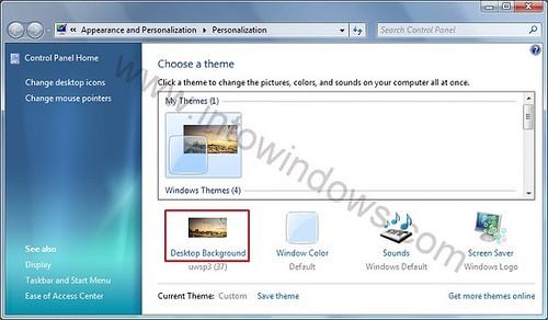 Cómo usar la función de presentación de diapositivas de escritorio de Windows 7