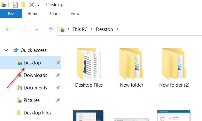 Acceder a iconos de escritorio, archivos en modo Windows 10 Tablet pic2