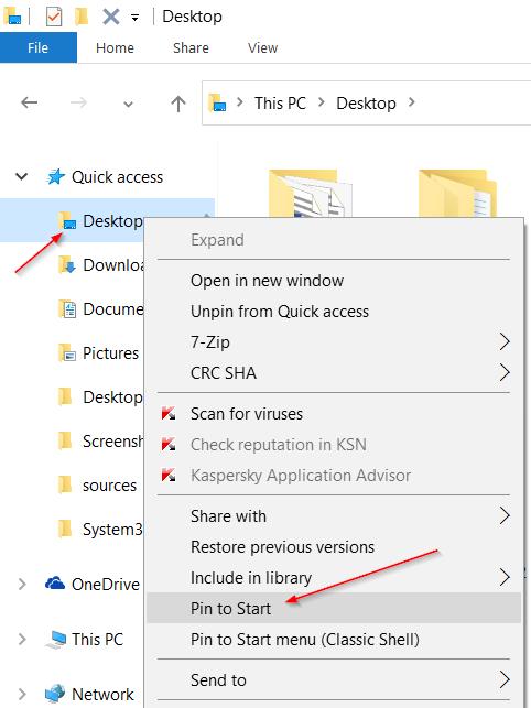 Acceder a iconos de escritorio, archivos en modo Windows 10 Tablet pic4