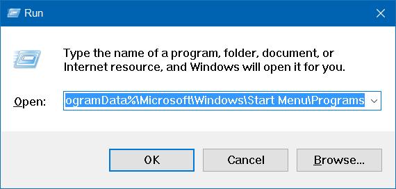 Falta carpeta de accesorios en Windows 10 step1