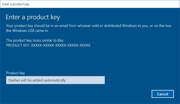 Activar Windows 10 usando Windows 7, 8, 8.1 clave de producto