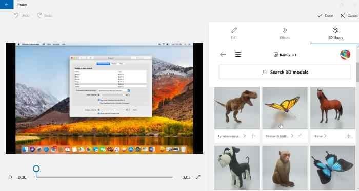 Añadir efectos 3D a imágenes con Photos app en Windows 10 pic3