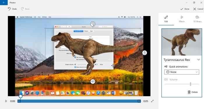 Agregar efectos 3D a imágenes con Photos app en Windows 10 pic4.1