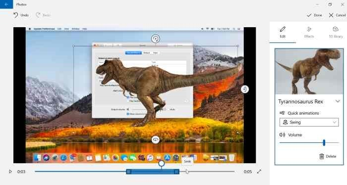 Agregar efectos 3D a imágenes con Photos app en Windows 10 pic4.2