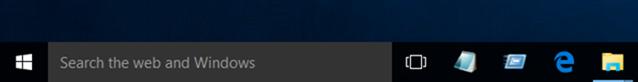 Agregar comando Ejecutar a la barra de tareas en Windows 10