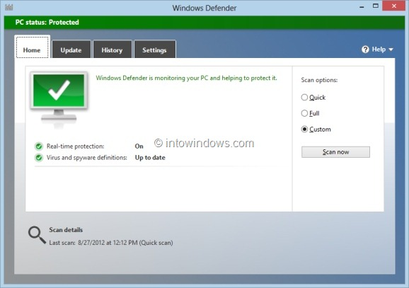 Add Scan With Windows Defender