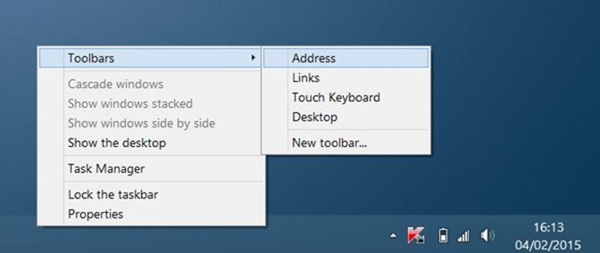 Añadir una búsqueda en la barra de tareas de Windows 10 en Windows 7 y Windows 8.1 step2