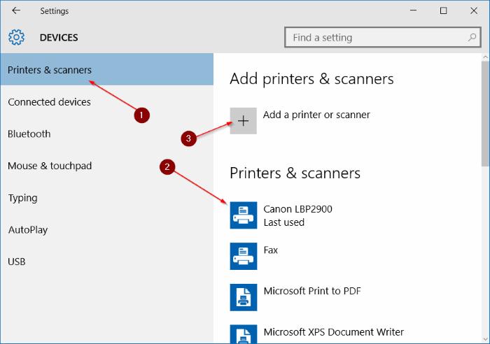 Agregar una impresora a Windows 10 step3