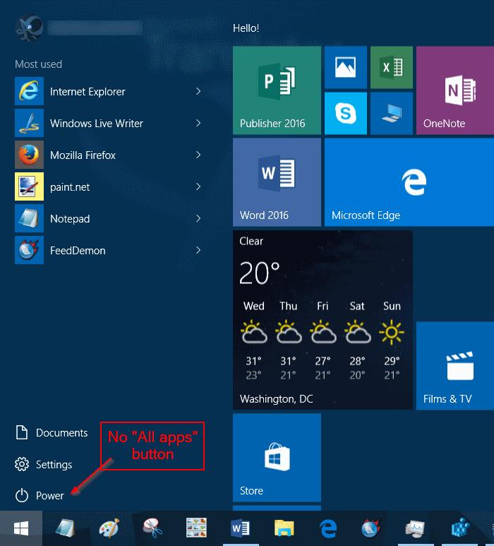Agregar o quitar todas las aplicaciones al menú Inicio de Windows 10 pic2.jpg