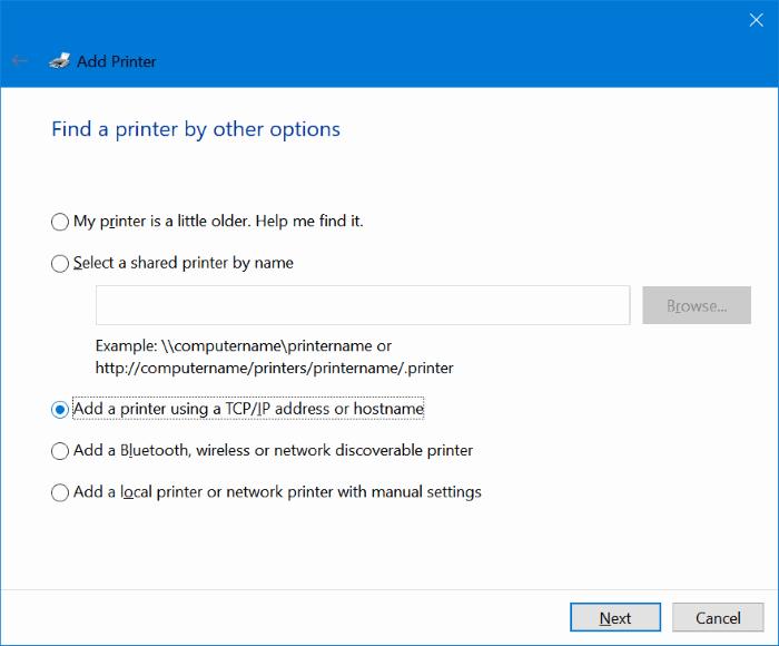 Agregar impresora inalámbrica a Windows 10 PC (6.1)
