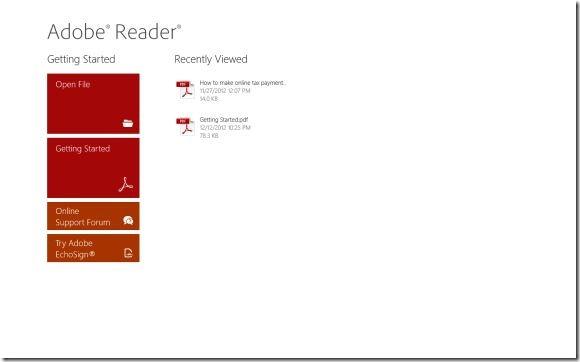 Aplicación de Adobe Reader para Windows 8 Picture2