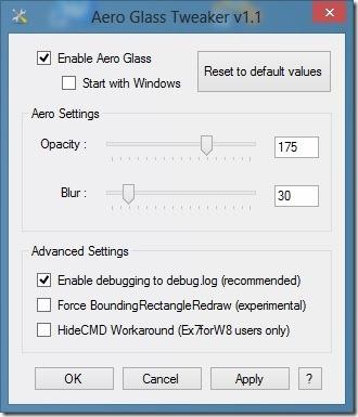 Aero Glass Tweaker for Windows 8