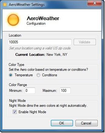 AeroWeather para Windows 7