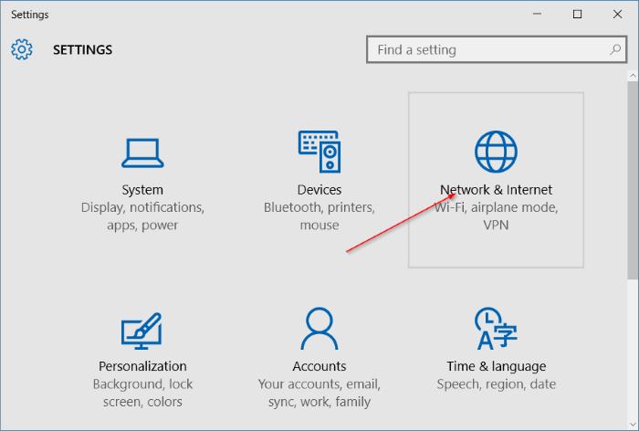 El modo avión no se desactiva en Windows 10 step2