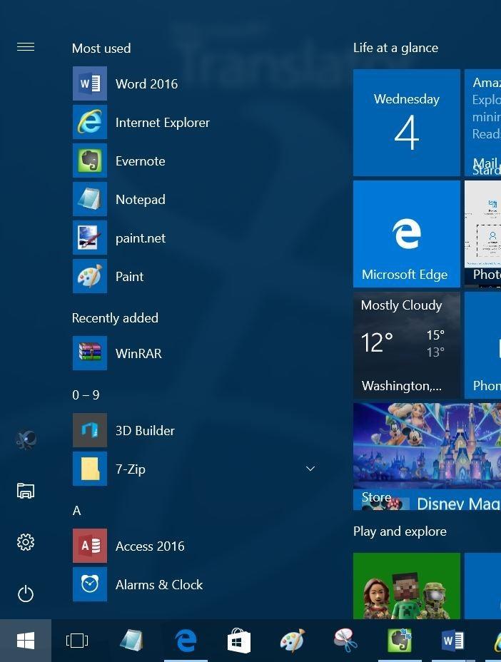 Falta el botón de todas las aplicaciones del menú Inicio Windows 10