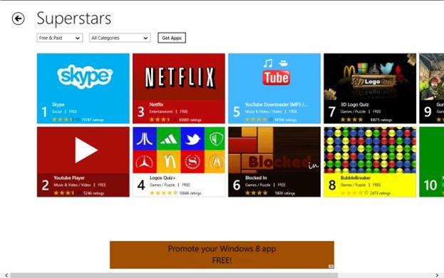 App Stars App Finder for Windows 8 Picture1