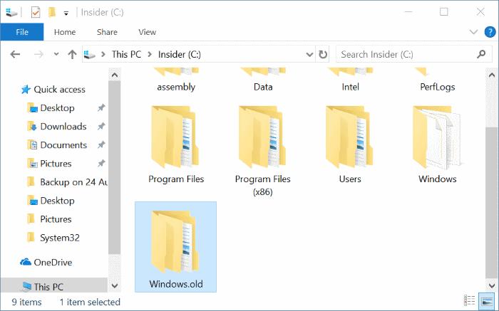 Eliminar automáticamente los archivos de instalación de Windows anteriores en Windows 10 pic01