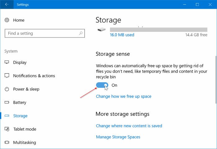 Eliminar automáticamente los archivos de instalación de Windows anteriores en Windows 10 pic1