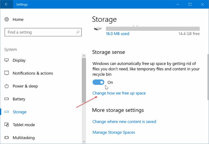 Eliminar automáticamente los archivos de instalación de Windows anteriores en Windows 10 pic2