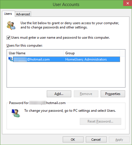 Automaticlly login in Windows 10 step1