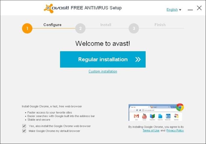 Avast free antivirus 2014 for Windows 7