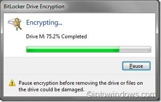 Proceso de encriptación de BitLocker