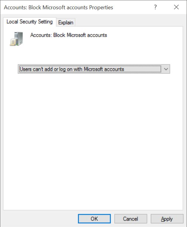 Bloquear o desactivar la cuenta de Microsoft en Windows 10 pic4.jpg