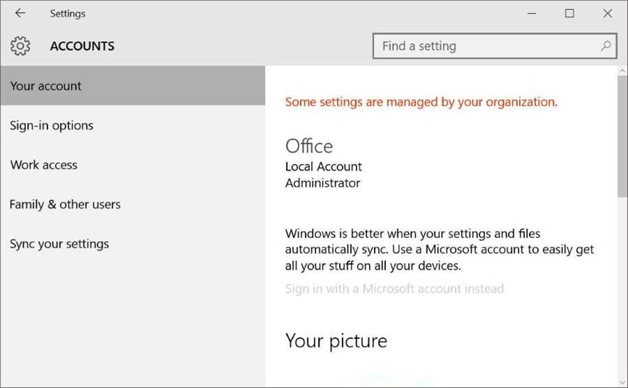 Bloquear o desactivar la cuenta de Microsoft en Windows 10 pic5