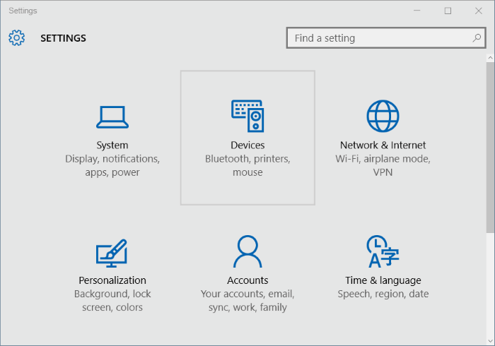 Falta icono Bluetooth en Windows 10 system tray step2