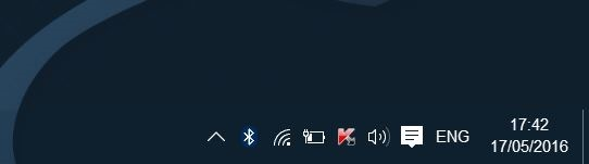 Falta icono Bluetooth en la bandeja de sistema de Windows 10