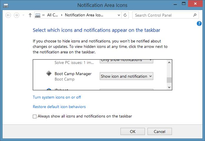 Falta el icono Boot Camp en la bandeja del sistema de la barra de tareas step02