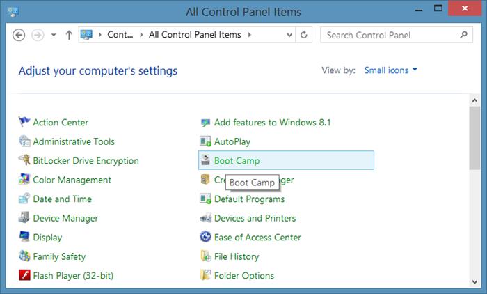 Falta el icono Boot Camp en la bandeja del sistema de la barra de tareas step3