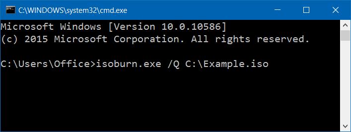 Grabar archivo ISO o IMG desde el Símbolo del sistema operativo en Windows 10 step2