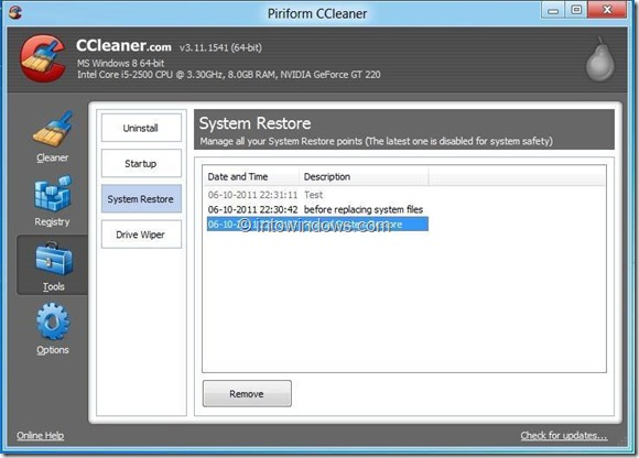 CCleaner for Windows 8 Picture3