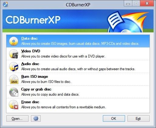 CD Burner XP for Windows 8