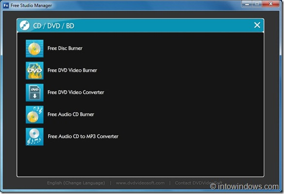 CD or DVD Category In Free Studio Manager