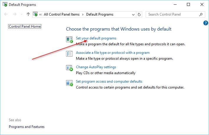 Cambiar navegador predeterminado en Windows 10 step7