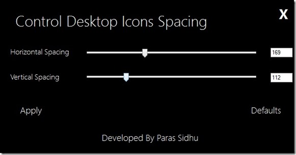Change Desktop Icons Spacing