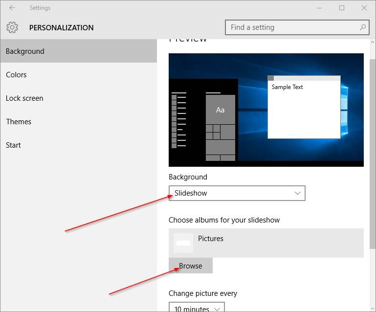 Cambiar fondo de escritorio Windows 10 step6