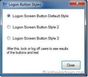 Change Logon Screen Button Style