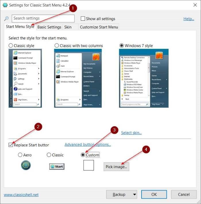 Cambiar el botón Inicio en Windows 10 pic4