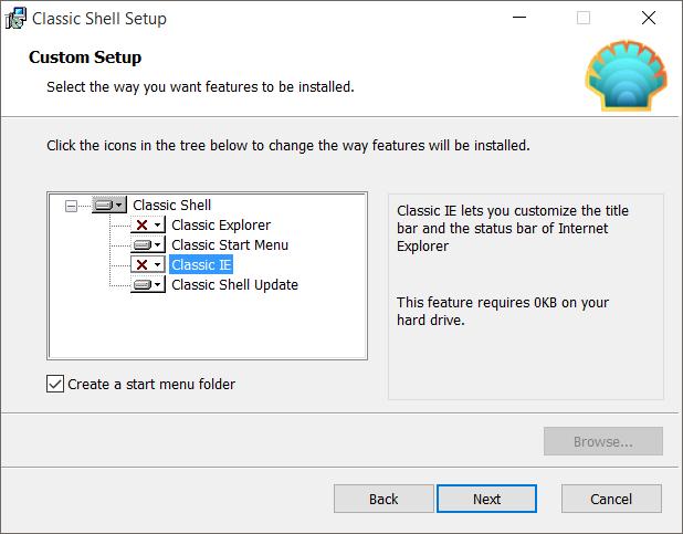 Cambiar el botón Inicio en Windows 10