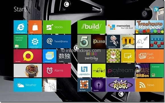 Change Windows 8 Start Screen Background