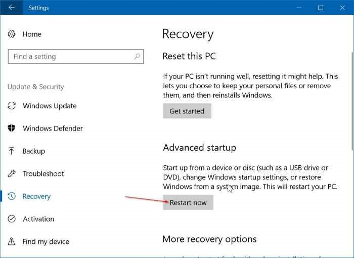 Cambiar el orden de inicio en Windows 10 (02)