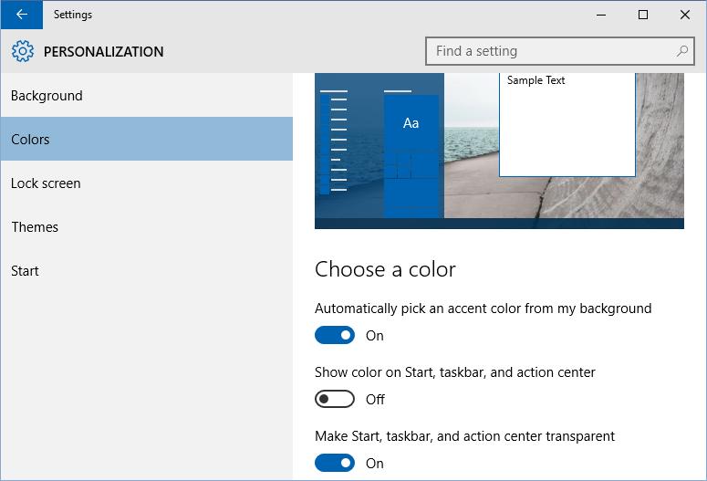 Cambiar el color del paso 3 del menú Inicio