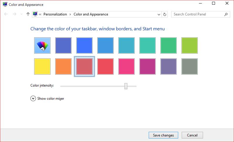 Cambiar el color del paso 9 del menú Inicio