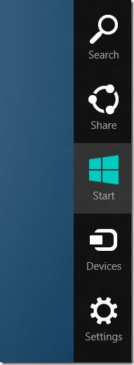Charms Bar In Windows 8
