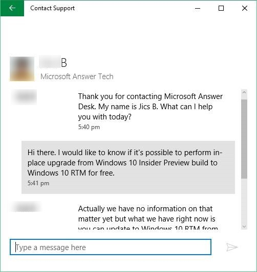 Chat con soporte para Microsoft Windows 10 step6