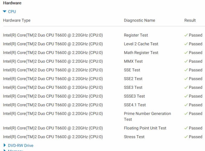 Check Dell PC for CPU, RAM, SSD Errors (10)