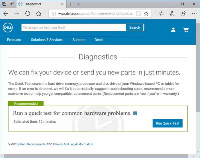 Check Dell PC for CPU, RAM, SSD Errors (2)